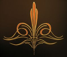 Pinstriping...maybe I'll try putting this on a cake