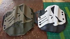 Punisher kydex holsters for Glock 35 w/ Surefire Want The subdued one for a Tactical Equipment, Tactical Gear, Airsoft, Bug Out Gear, Shooting Guns, Shooting Range, Reloading Bench, Tac Gear, Kydex Sheath