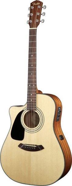 Fender CD-100CE Left Handed Cutaway Acoustic-Electric Guitar | Natural