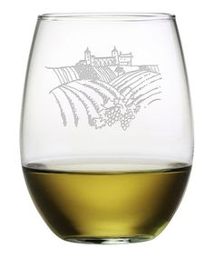 Love this Vineyard Scene Stemless Wineglass - Set of Four on #zulily! #zulilyfinds