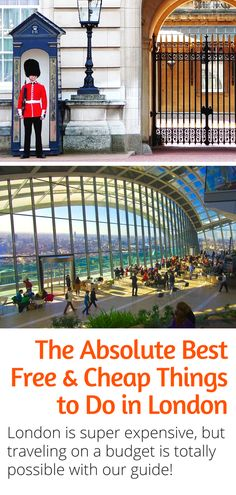 Budget Travel Guide to London - The absolute best things to do in London on a budget. Here are 10 Cheap and Free things to do in London UK! Travel Info, Travel List, Cheap Travel, Budget Travel, Travel Europe, Travel Articles, Travel Plan, Travel Guides, Travel Hacks