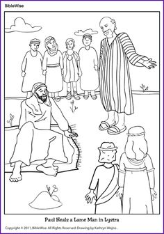 Coloring (Paul Heals a Lame Man) - Kids Korner - BibleWise