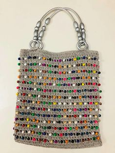 Marvelous Crochet A Shell Stitch Purse Bag Ideas. Wonderful Crochet A Shell Stitch Purse Bag Ideas. Crochet Handbags, Crochet Purses, Crochet Bags, Crochet Clothes, Mode Crochet, Knit Crochet, Filet Crochet, Pop Tab Purse, Knitting Patterns