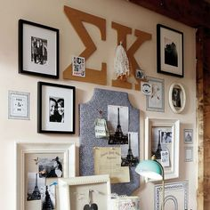 PB teen makes theses for every sorority!! No Nails Greek Letter Cork Pinboard   PBteen