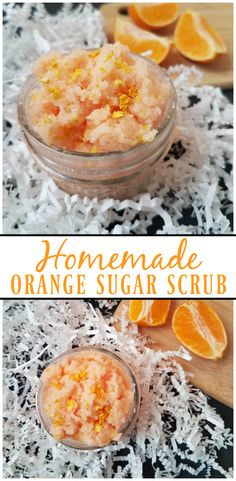 a simple DIY project. Learn how to make your own Homemade Orange Sugar Scrub with a few ingredients that you have at home.Such a simple DIY project. Learn how to make your own Homemade Orange Sugar Scrub with a few ingredients that you have at home. Body Scrub Recipe, Sugar Scrub Recipe, Diy Body Scrub, Diy Scrub, Neutrogena, Zucker Schrubben Diy, Diy Beauty Hacks, Diy Hacks, Beauty Tips