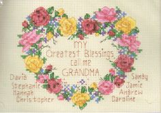 Dimensions My Greatest Blessings Counted Cross Stitch Kit 6788 #grandma