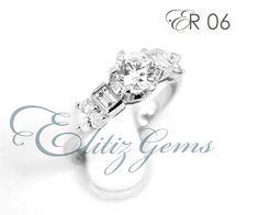 Elitiz Gems engagement ring with 0.50 ct round diamond. Purchase at Elitiz Gems I www.elitizgems.com