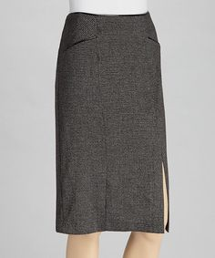 Take a look at this Charcoal Piped Pencil Skirt by NYCC on #zulily today!
