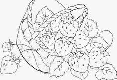 risco de morango para pintura em tecido - Pesquisa Google