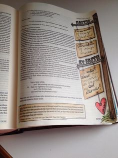 journaling Bible art sign posts by Coralee Gingras