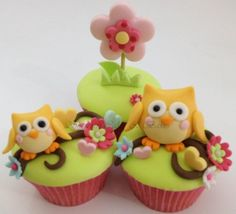 Owl Cupcakes - Shereen's Cakes & Bakes
