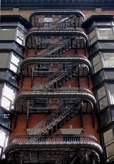 Beautiful fire escape