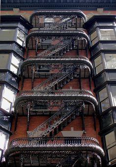 Most beautiful fire escape #Victorian #Steampunk #Metalwork