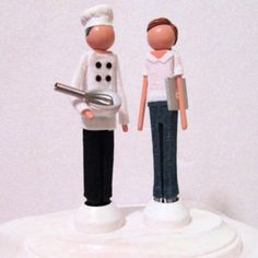 From http://pincarnations.etsy.com  Awesome customisable cake toppers, gifts for the wedding party and commemorative ornaments. :D