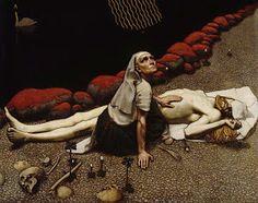 Lemminkäinen's Mother 1897 Akseli Gallen-Kallela Photography Illustration, Art Photography, Illustration Art, Portal, Framed Prints, Art Prints, Surreal Art, Great Artists, Surrealism