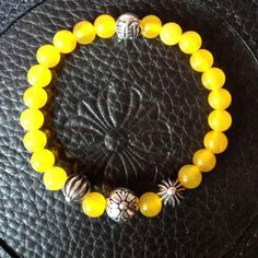 CH Yellow Amber Beads Bracelet 2013 Summer New Style