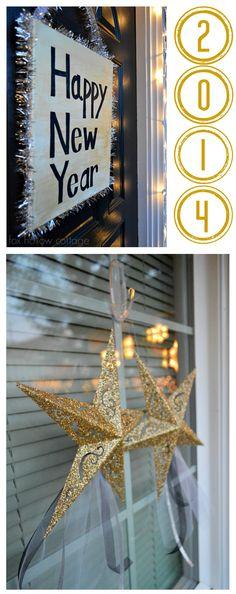 New Years Eve 2012 #decoratingideas #diy #crafts #ad #damagefreeDIY
