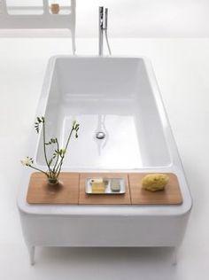 bathtub, white, decor