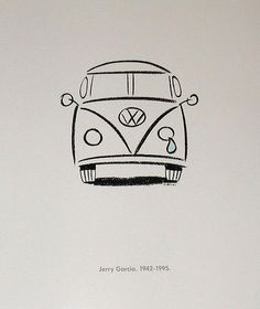 15 cars that influenced America - a VW Microbus poster in honor of the . - 15 Cars That Affected America – A VW Microbus Poster Commemorating Jerry Garcia& Death – # - Mini Drawings, Cute Easy Drawings, Cool Art Drawings, Art Drawings Sketches, Doodle Drawings, Doodle Art, Drawing Ideas, Simple Doodles Drawings, Hipster Drawings