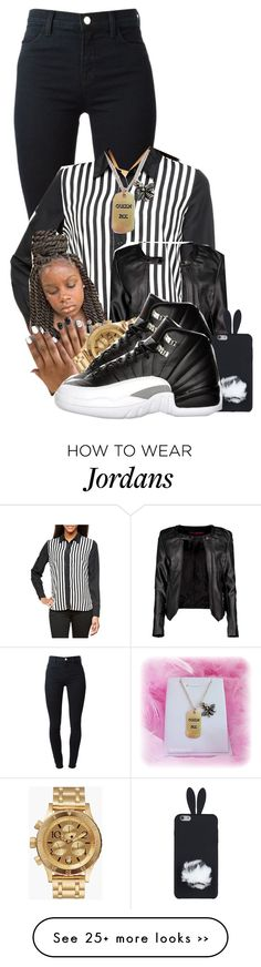 """""""Blessed"""" by aniahrhichkhidd on Polyvore featuring J Brand, Boohoo, Nixon and Queen Bee"""