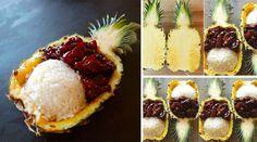 Receta de Piña Oriental con Pollo Teriyaki #gastronomia #recetas #gastronomía http://blgs.co/-9mT75