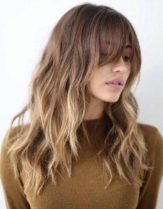2018 long waves brown caramel blonde