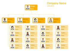 corporate structure chart template
