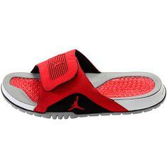 07de5d37671d88 Nike Jordan Hydro IV Retro Mens Sandal Size 14 (Cement Grey   Fire Red    Black   White) 532225-002