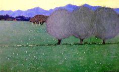 Felix Vallotton (Swiss 1865-1925) Landscape with Autumn Crocuses (1900)
