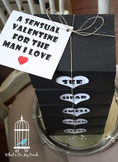 What's On My Porch-Valentine's Day gift for him. Husband, guy, gift, idea, man.