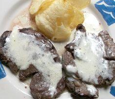 Solomillo de ternera con salsa Roquefort