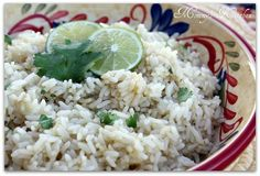 Mommy's Kitchen - Home Cooking & Family Friendly Recipes: Cilantro Lime Rice
