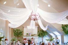 Sleepy Ridge Weddings & Events | Sunset Room | Chandelier | Drapery | Utah Venue | Heather Telford Photography