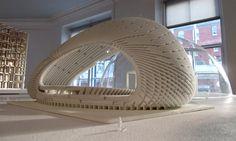 3d printing at The Aram Gallery #3dPrintedArchitecture