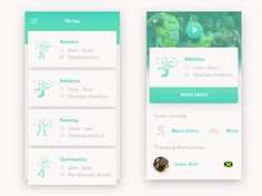 Olympics Schedule App by Kyran Leech #Design Popular #Dribbble #shots