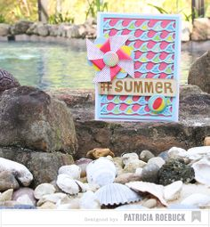 Summer card inspiration by @American Crafts #summer collection. #cardmaking