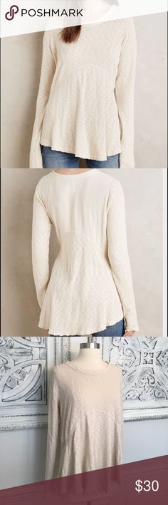 {Anthropologie} Left of Center Dara pullover! Anthropologie Left of Center Dara pullover. Off white color. Size medium. Super cute! Smoke free clean home! Any questions lmk! Anthropologie Tops Blouses