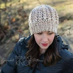 (4) Name: 'Crocheting : Cabled Love Hat
