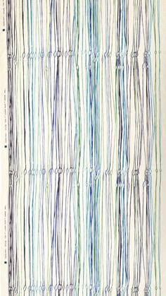 From the Cooper-Hewitt blog: Fibra. Designed by Eszter Haraszty for Knoll Textiles. United States, 1953. Screenprinted linen. Gift of Larry Weinberg, 2011-20-1. Photo: Matt Flynn