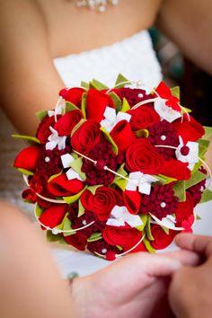 felt wedding flowers vilten bruidsboeket www.deviltenbruid.nl