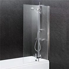 Ella 1400 Straight Hinged Bath Screen - at Victorian Plumbing UK Glass Hinges, Glass Door, Straight Baths, Bath Screens, Bath Or Shower, Safety Glass, Door Opener, Simple Lines, Bathroom Fixtures