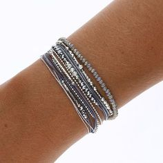 COMPOSITION SHINE GREY - BRACELETS