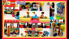 LEGO Friends 41129 Amusement Park Hot Dog Van Unboxing, Speed Build, Pla...