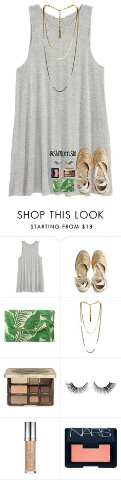 """""""anyone know good ab workouts?"""" by preppy-southern-gals ❤ liked on Polyvore featuring H&M, Castañer, Stella & Dot, Lanvin, Too Faced Cosmetics, Urban Decay and NARS Cosmetics"""