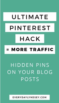 There are several reasons you might want to hide Pinterest pins within your blog post. If you're just starting out your blog you probably don't have a lot of content. Adding additional pinnable images to your post helps increase your pin count. #PinterestTips #HidePinterestPins #HowToHidePins #PinterestStrategies