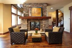 019 two sided fireplace Family Room Design Photos | Fireplaces | Pinterest | Family room design