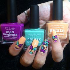 Multicoloured Daisy Nail Art | Polished Inka