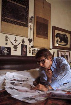 Yves Saint Laurent at home in Paris, 1978.