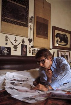 Yves Saint Laurent at home in Paris, 1978.
