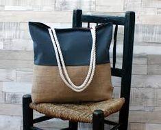 Resultado de imagen para bolsos de playa de arpillera